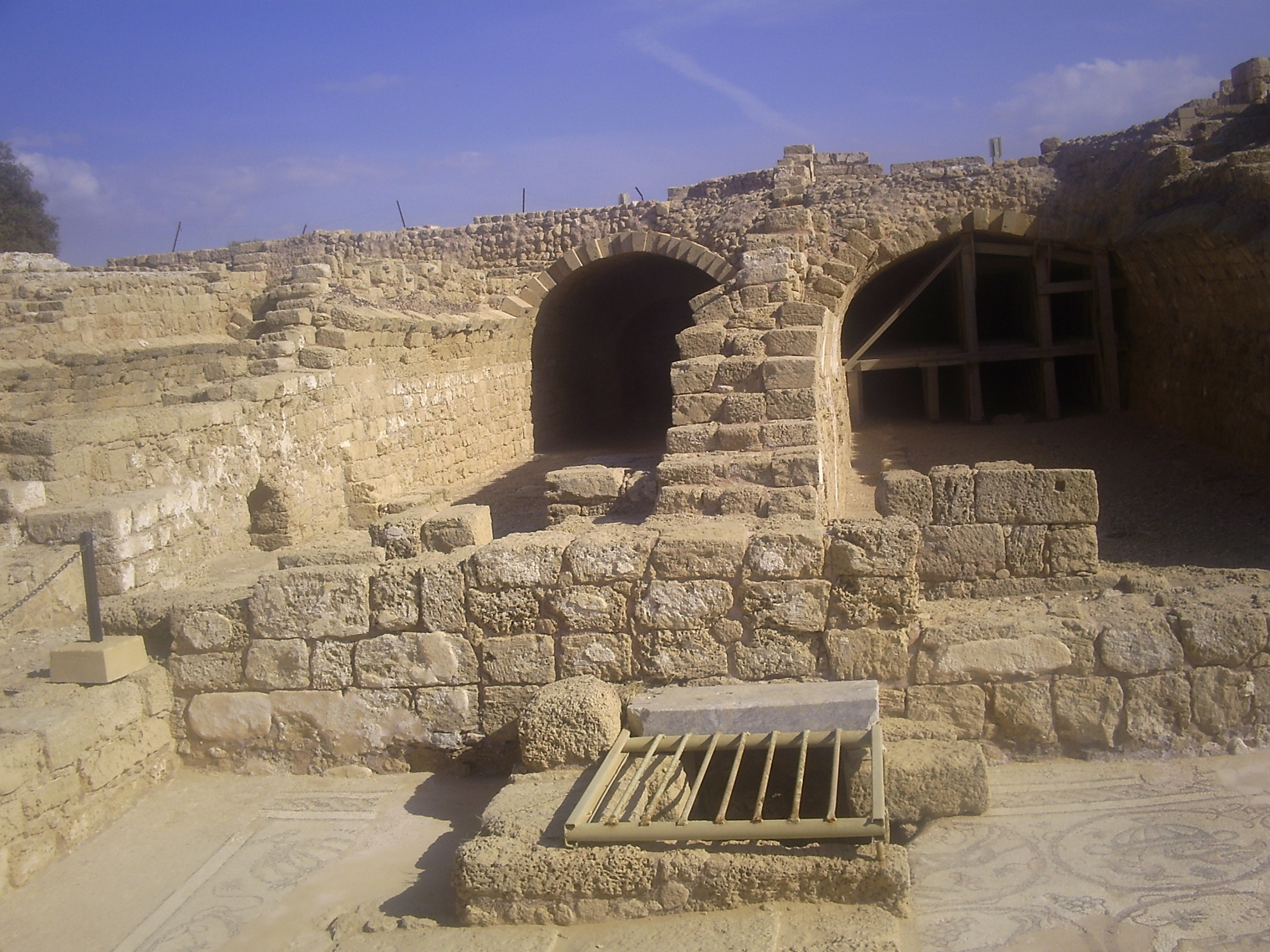 Herod the Great's Vaults at his palace in Caesarea