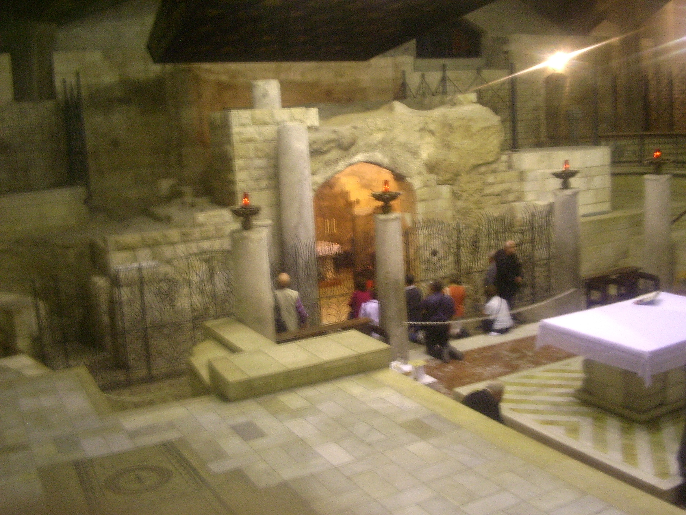"""Traditional Site"" of Mary's home, inside Nazareth's Church of the Annunciation"