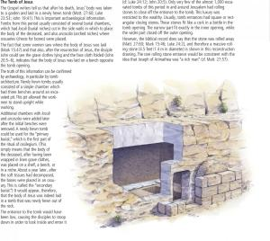 Cut away of a tomb like the one our risen Lord vacated! from the ESV Study Bible