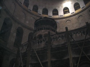 Shrine in Church of the Holy Sepulchre