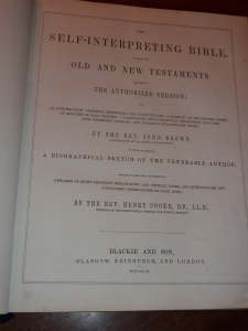 Title Page to Brown's Self-Interpreting Bible