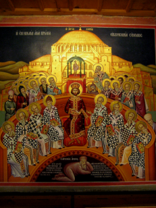 The Council of Nicea ruling on the Arian Heresy.